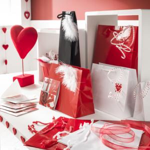 Exposición de productos San Valentín
