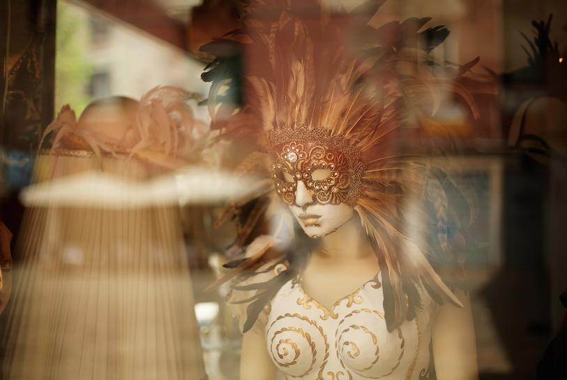 Escaparate decoración Carnaval
