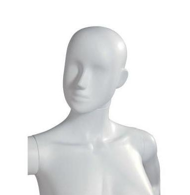 Cabeza mujer abstracta - blanco mate