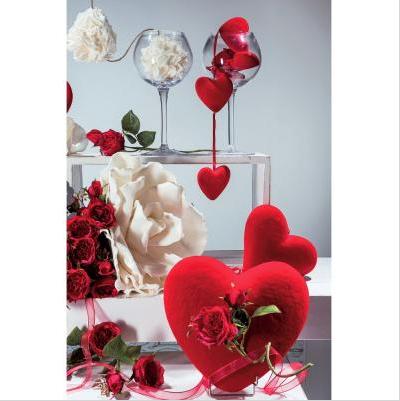 Tallo flores y corazones