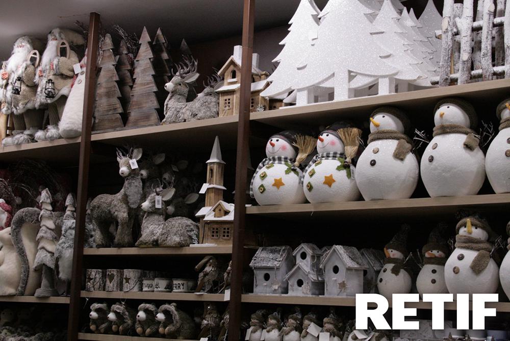 Decoración navideña para tiendas de cuento