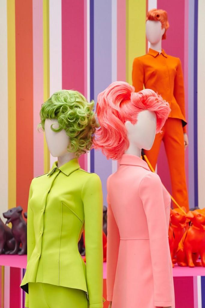 Maniquíes con pelucas decoración Carnaval
