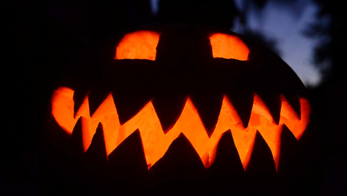 decoración de Halloween para tiendas
