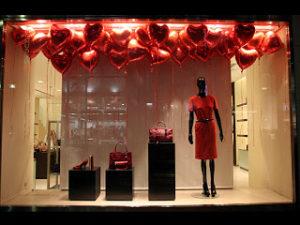 Escaparate de Loewe en San Valentin