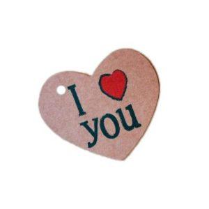 Etiqueta regalo de Corazón