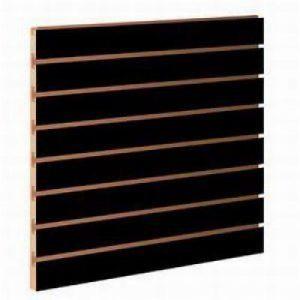 Panel de Lamas R15 Negro Mate de mobiliario para tiendas